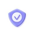shield check mark icon 3d security guaranteed vector image
