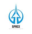 space - concept logo template vector image