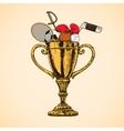 Sport trophy cup vector image