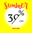 summer sale poster with thirty percent discount on vector image vector image