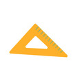 triangle ruler icon measurement scale tool vector image