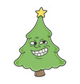 trolling meme christmas tree cartoon character vector image vector image