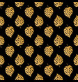 tropic seamless pattern with golden leaves vector image
