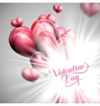 Valentines Day label on the festive red balloon vector image vector image