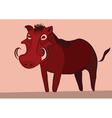 warthog vector image