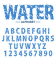 water drops alphabet modern futuristic splash vector image vector image