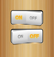 White Realistic Switch vector image vector image