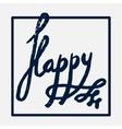 Happy handwritten in a frame vector image