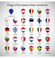 Set the flags of European Union countries symbol vector image