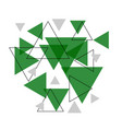 abstract green triangle banner background vector image