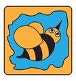 cartoon black orange bumble bee vector image