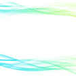 spring modern abstract stroke swoosh wave layout vector image