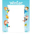 Children And Animal On Frame vector image