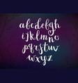 Hand Drawn Script Alphabet Letters Written with a vector image