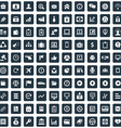 100 Business icons set vector image vector image