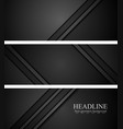 Abstract black tech concept banners vector image vector image