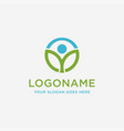 abstract person and leaf logo nature logo icon vector image vector image