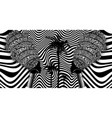 afro women batik optical art style fabric printing vector image vector image