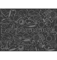 Agronomy chalk vector image vector image