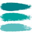 Aquamarine paintbrush strokes vector image vector image