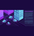 artificial city intelligence banner isometric vector image