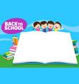 back to school kidseducation concept vector image