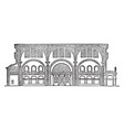 basilica of constantine section of the basilica vector image vector image