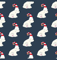 bear in christmas costume seamless pattern vector image vector image