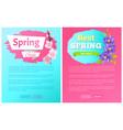 best spring big sale advertisement labels crocus vector image vector image