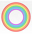 bright circle rainbow on transparent vector image