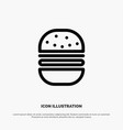 burger fast food fast food line icon vector image vector image