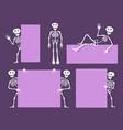 cartoon skeleton bony character with vector image
