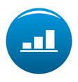 chart icon blue vector image