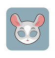 chinchilla mask for various festivities parties vector image vector image