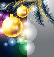 Christmas Background with Golden Baubles