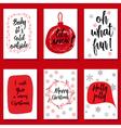 Christmas holidays modern calligraphy set Hand vector image vector image