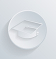 circle icon with a shadow graduate hat vector image