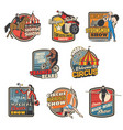 circus funfair carnival animals and magician show vector image
