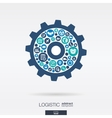 Color circles icons in a cogwheel shape vector image vector image
