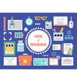concept coding and programming with equipment vector image vector image