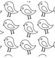 cute bird animal natural seamless pattern vector image