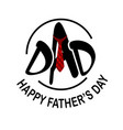 dad red necktie happy father day white background vector image vector image