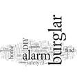 diy burglar alarm vector image vector image