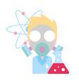 doctor science mask test tube chemistry laboratory vector image vector image