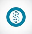dollar icon bold blue circle border vector image