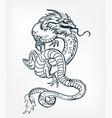 dragon card kimono japanese chinese design vector image