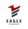eagle animal logo design vector image vector image