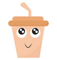 emoji smiling disposable party coffee vector image vector image