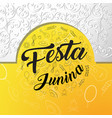 festa junina background template vector image vector image