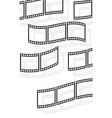 filmstrips film rolls for photographic concepts vector image vector image